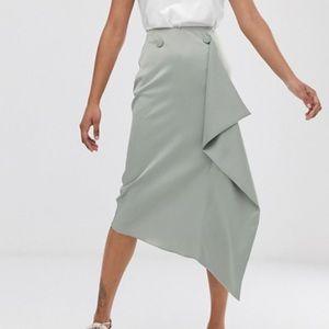 ASOS Midi Satin Skirt